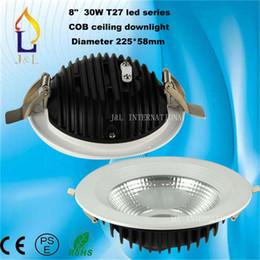 Wholesale 8 quot W COB down light T5 series outside diameter mm super brightness hot sale COB ceiling light