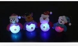 Wholesale 2015 HOT Christmas Decoration Flashing LED Light Christmas Snowman Bear Deer XMAS Santa Claus Hanging Ornament Beautiful Gifts