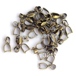 Wholesale HOT SALE X Jewelry Findings x6mm Antique bronze Pendant Bail Connector Bale Pinch Clasp