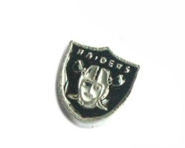 Wholesale 20PCS Football Raiders sport teams DIY Alloy Floating Locket Charms Fit For Magnetic Living Locket Pendant Fashion Jewelrys N020