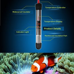 Wholesale Submersible Heater Heating Rod for Aquarium Glass Fish Tank Temperature Adjustment w w for Choose H14027