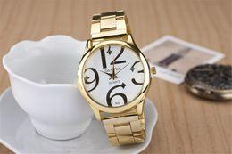 In June a new fashionable v-shape notch set auger steel band watch Peach heart Swiss alloy bigquartz watch