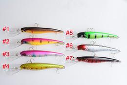 Fishing Crankbait Lure 1pcs Bait Hook minow 16.5CM 27.9G Crankbait hard plastic lures Bait 2# hooks big minnow boat bait