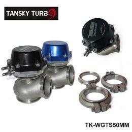 Wholesale Tansky High Quality PRO GATE MM EXTERNAL WASTEGATE BLACK BLUE Default color is BLACK For Universal TK WGTS50MM