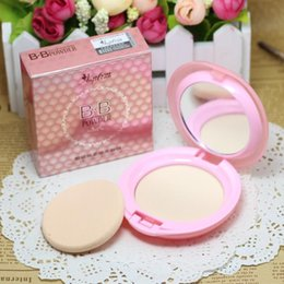 Wholesale Amazing Professional Brand Makeup Face Powder foundation studio Fix Setting powder puffs Cosmetics and mirror