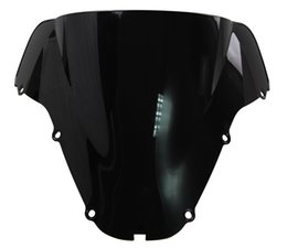 Motorcycle Double Bubble Windshield WindScreen For 2000-2001 Honda CBR900RR CBR 900 RR 929 00 01 Black