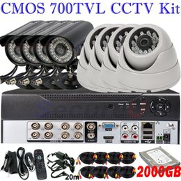 Wholesale Best home business cctv security system ch surveillance DVR kits TVL IR indoor outdoor use dome bullet waterproof hd camera