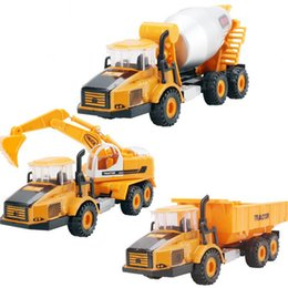 Wholesale Engineering Dumper Spiral Stirrer Excavator Concrete Truck Boys Model Toys Christmas New Year Gifts Diecast Cars Vehicle Car D2987