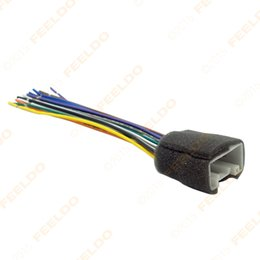 Wholesale CAR RADIO STEREO WIRING HARNESS ADAPTER For MITSUBISHI LANCER OUTLANDER MIRAGE Aftermarket Installation CD DVD