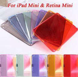 Funda de silicona rosa de mini ipad en Línea-Al por mayor-venta caliente colorido de silicona suave cubierta trasera para iPad Mini 1 y Mini con el caso Retina Medio Nublado Tablet Negro Rosa Púrpura Rojo