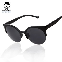 Cat Eye Sunglasses Women Brand Designer Super Retro Sunglasses Half Rim Vintage Glasses Eyeglasses oculos de sol