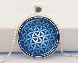 FLOWER OF LIFE Pendant Light Blue Pendant Spiritual Jewelry Mandala Necklace Yoga Pendant Jewelry Metaphysical Sacred Geometry