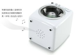 Wholesale Creative products Drum washing machine alarm clock polyphonic music vibration ring FREESHIPPING