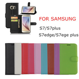 For Samsung Galaxy S7 S7 plus EDGE Plus Litchi Skin Flip Wallet Leather Case Stand Holder Cover Card Phone Cases