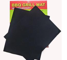 Wholesale BBQ Grill Mat Set of Non Stick Reusable Washable Plate PTFE Coated Telflon Mats DHL Free