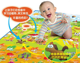 Wholesale-Free shipping kid's plat mat puzzle baby play gym non-slip mat office lunch break mate dressing room of outdoor bathing place