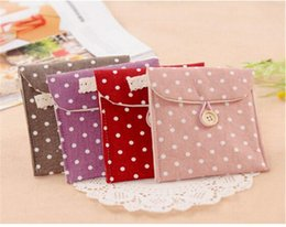 Wholesale Brand Nice Brief Cotton Full Dots Sanitary Napkin Bags Sanitary Towel Storage Bag