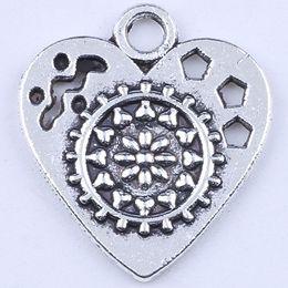 400pcs lot New fashion silver retro love DIY jewelry pendant Love gear pendant fit Necklace charm 1798c