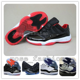 Wholesale Cheap XI LOW Bred Basketball Shoes Black Red Retro Sports Shoes s Low Concords Basketball Boots Men Athletics Sneakers BootS