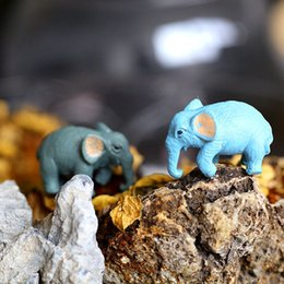 Wholesale-10 pcs   Decoden   PVC   Cute   Animal   Elephant   Miniature   Figurine   1.5CM