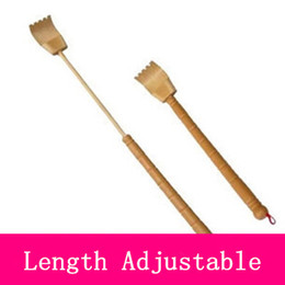 Wholesale Bamboo stick back scratcher length adjustable extendable help yourself whenever itching do scratching by selves