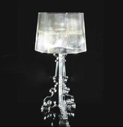 Wholesale table light for bedroom living room study room hotel company reception desk modern table lamp Baroque style acylic material