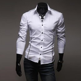 New Casual Shirt Hot Mens Dress Shirt Slim Fit Long Sleeve Men Shirts Single Breastd Shirts Size M,L,XL,XXL,XXXL