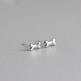30Pair- S041 Gold Silver Small Tiny Bones Stud Earrings Cute Dog Bone Earrings Stud for Women Girls Simple Jewelry