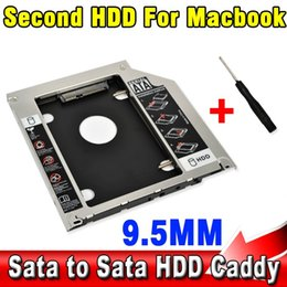 Wholesale 2015 mm Second HDD Caddy nd SATA quot Hard Disk Drive SSD Enclosure for Apple Macbook Pro A1278 A1286 A1297 CD ROM Bay