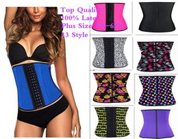 Wholesale Sexy Corset Top Women Plus Size XS XL Waist Training Corsets Slimming Body Shapers Ann Chery Latex Waist Trainer Sexy Steel Boned Bustiers