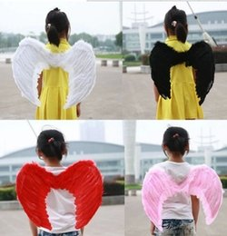 Wholesale 2016 New Halloween Supplier Angel Devil Baby Infant Kid Child Feather Wings Fairy Costume Props Halloween Party Kids Clothing