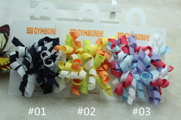 Wholesale The GYMBOREE Girl s Solid Colors Curly Hair Clips Children Ribbon Hair Accessories Giant Curlies Clips Hair Rings Two Pack