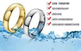 Fashion Jewelry Rings Classic Tungsten Carbide Ring 18K Gold Plated Wedding Rings For Men Women USA Size Standard