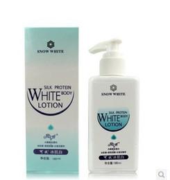 Free shipping 180ml Snow White 100% Original Whitening Cream Face and Body Lotion Body Skin Care Cream