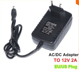 Edison2011 100PCS LOT 12V 2A EU US UK AU Plug AC DC Power Adapter Charger Power Supply Adapter for Tablets Led Strip Light