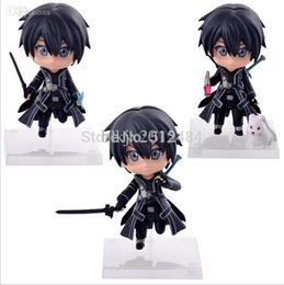 Wholesale Hot Anime Sword Art Online Q version Kirito figure SAO PVC figure cute doll model for collection