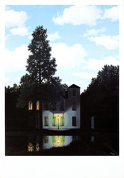 Wholesale Wall Art abstract L empire des lumieres Rene Magritte Painting oil Canvas Reproduction High quality Hand painted