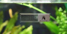 High quality 3D Crystal Digital LCD Fish Aquarium Tank Water Thermometer Aquarium Thermometer Power Sucker