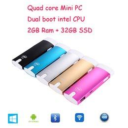 Wholesale Best New GB SSD Dual Boot Mini PC amp TV stick Intel Z3735F Windows OS HDMI TV Player GB RAM Andriod