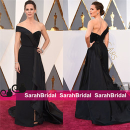 2019 Oscars 88th Jennifer Garner Red Carpet Celebrity Dresses Unique Black Long Arabic Formal Evening Prom Gowns for Women Wear Sale Cheap
