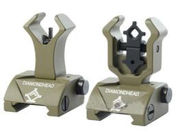 Diamondhead DIAMOND Combat Flip-Up Rear & Front Sight Folding Iron Sights for Drop-In Free-Floating Handguards Picatinny Rail Dark earth DE