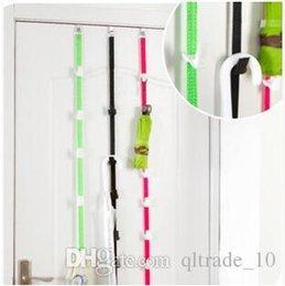 Wholesale 100pcs LJJC2657 New Arrival pack Hot Door Adjustable Straps Hat Bag Lanyard Clothes Coat Organizer Rack Holder Hook Bag Storage Racks