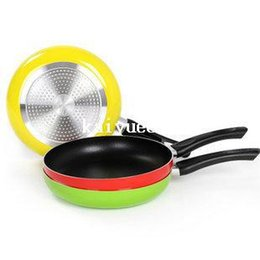 Wholesale 26cm Non stick Frying Pan Aluminum Alloy Material Teflon Coating Inside Inductiion Gas Color