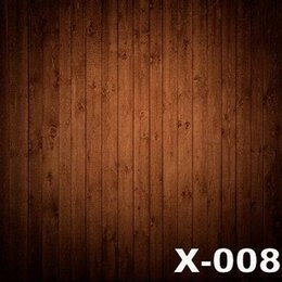 Wholesale 125X150cm brown wood wall photography backdrop for photos muslin vinyl backdrops baby photography background digital cloth