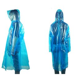 Wholesale Disposable Raincoat Adult Emergency Waterproof Hood Poncho Travel Camping Men Women Plastic Rain Coat Amusement park poncho