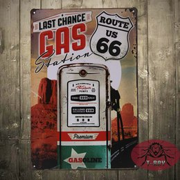 Wholesale Last Chance GAS Station painting House Office Restaurant Bar iron signs D CM