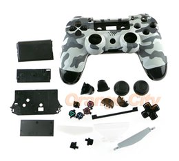 Shell Housing Cover case With Full Set Thumbsticks Buttoms buttons For PlayStation 4 PS4 Controller Camouflage