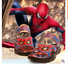 Sandalias de los niños al por mayor-luces araña Use zapatos de playa antideslizante CUHK muchacho del muchacho de los zapatos de la sandalia spiderman shoes for boys on sale desde zapatos de hombre araña para niños proveedores