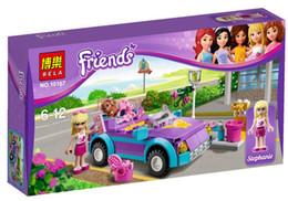 Wholesale Girls Building Blocks Friends Bricks Stephanie s Car Girls Educational Bricks Toys with Coloring Box Packing
