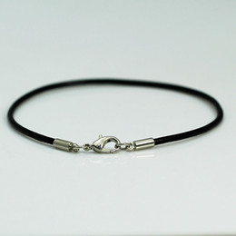 Beadsnice black leather bracelet with plated silver lobster clasp fashion leather jewelry wholesale perfect gift for girls ID 9548